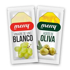 monodosis de aceite y vinagre para hostelería de MERRY