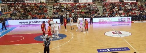 Vallas publicitarias durante un partido esta temporada 2018/2019.